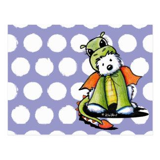 Dragón Westie Terrier Postal