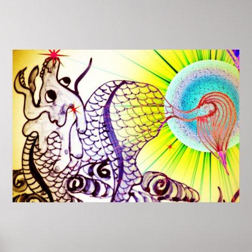 Dragón y el Sun Impresiones