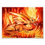 Dragón y huevo del fuego impresiones fotograficas