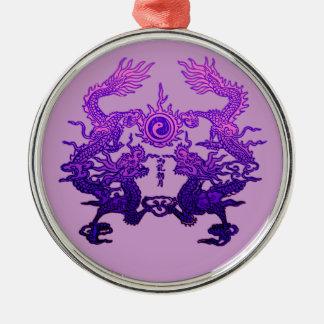 Dragones CHINOS de la púrpura del AÑO NUEVO Ornamentos De Navidad