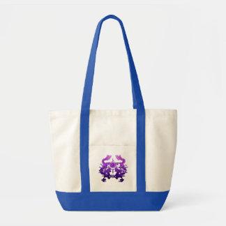 Dragones CHINOS de la púrpura del AÑO NUEVO Bolsas De Mano