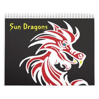Dragones de Sun Calendarios De Pared