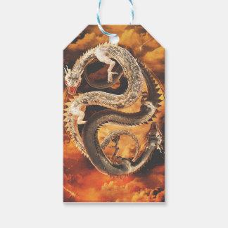 Dragones de Yin Yang - caos Etiquetas Para Regalos