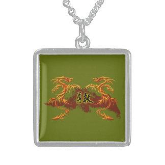 Dragones del collar 2, fuego, símbolo chino