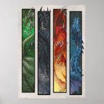 Dragones elementales póster