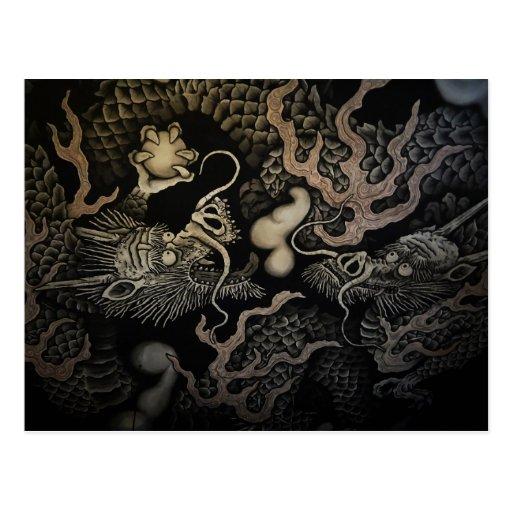 Dragones japoneses tarjetas postales
