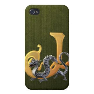 Dragonlore J inicial iPhone 4 Carcasa