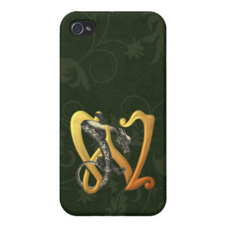Dragonlore W inicial iPhone 4 Carcasas