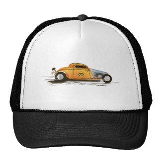 Dragster, coche de carreras, corredor de los plano gorro de camionero