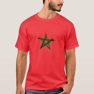 Drapeau marocaine avec des brosses camiseta