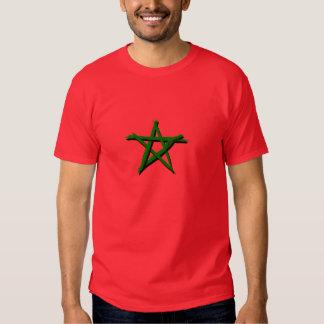 Drapeau marocaine avec des brosses camisetas