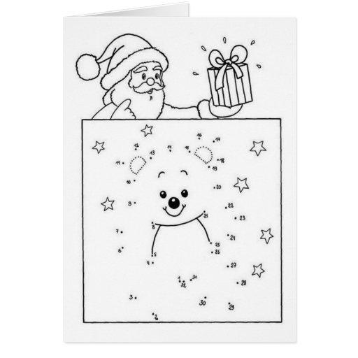 Drawing coloring for Christmas - Tarjeta