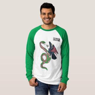 DreamySupply la camisa verde del raglán del pájaro