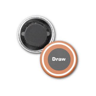 Drenaje 1-1/4 del marcador del ~TAG~ de los inspec Imán Redondo 3 Cm