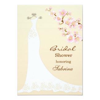 Dres del boda, ducha nupcial del flor del chery invitación 11,4 x 15,8 cm