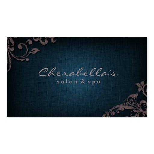 Dril de algodón floral de la tarjeta de visita del
