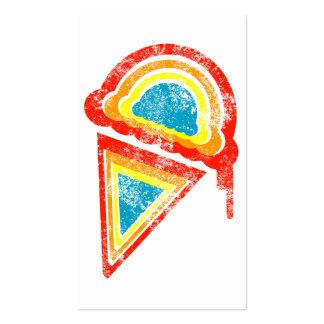 dripz del arco iris del helado tarjetas de visita