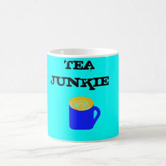 Drogadicto del té taza de café