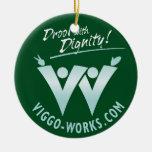 Drool con dignidad ornaments para arbol de navidad