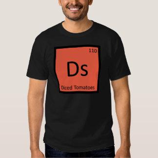 Ds - Tabla periódica cortada en cuadritos de la Camiseta