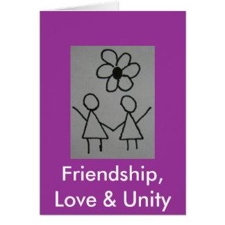 DSC02112, amistad, amor y unidad Tarjeta De Felicitación