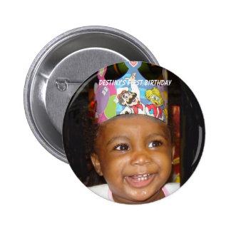 DSC02552-CIRCLE, el primer cumpleaños del destino Chapa Redonda De 5 Cm