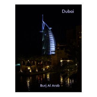 Dubai árabe del Al de Burj Tarjeta Postal