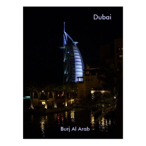 Dubai, árabe del Al de Burj Tarjeta Postal