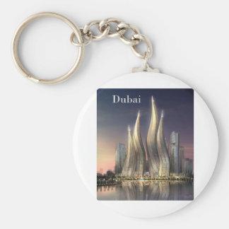 Dubai se eleva (por St.K) Llavero Redondo Tipo Chapa