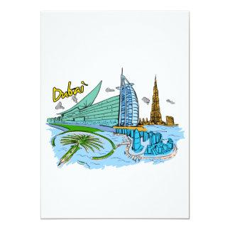 Dubai - United Arab Emirates .png Invitación 12,7 X 17,8 Cm