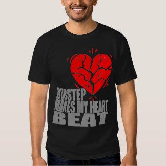 Dubstep hace mi golpe de corazón camisas