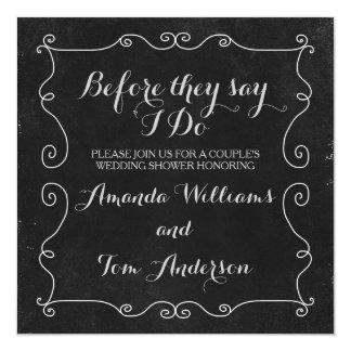 Ducha blanco y negro del boda del estilo de la invitación 13,3 cm x 13,3cm