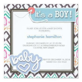 Ducha de encargo del bebé del bosquejo invitación 13,3 cm x 13,3cm