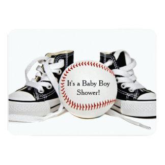 Ducha del béisbol del bebé invitación 12,7 x 17,8 cm