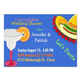 Ducha del boda del par mexicano colorido de la invitación 11,4 x 15,8 cm