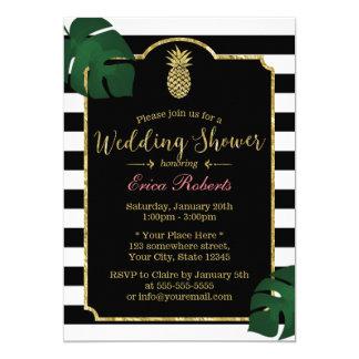 Ducha hawaiana del boda de la piña tropical invitación 12,7 x 17,8 cm