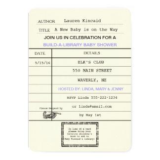 Ducha neutral de la tarjeta de biblioteca del