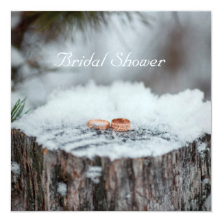 Ducha nupcial--Boda del invierno Invitación 13,3 Cm X 13,3cm