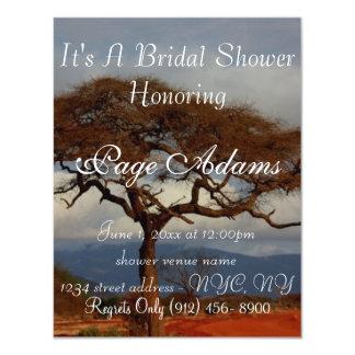 Ducha nupcial de África del safari romántico Invitación 10,8 X 13,9 Cm