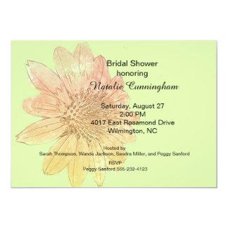 Ducha nupcial de la flor del estilo de la acuarela invitación 12,7 x 17,8 cm