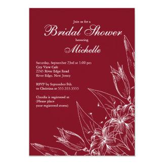 Ducha nupcial de la flor marrón elegante del lirio anuncios