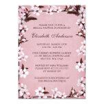 Ducha nupcial de la frontera rosada de las flores anuncios personalizados
