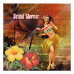 ducha nupcial de la playa de Hawaii del chica de h Anuncios Personalizados