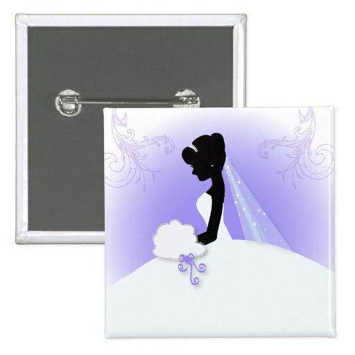 Ducha nupcial de la silueta púrpura elegante de la pin