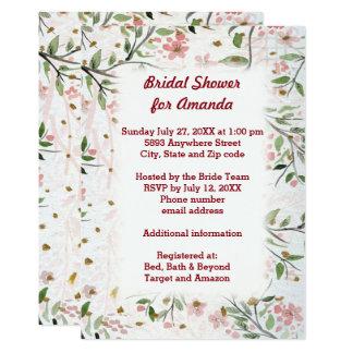 Ducha nupcial de las flores japonesas de las invitación 12,7 x 17,8 cm