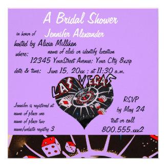 Ducha nupcial de Las Vegas Invitacion Personalizada