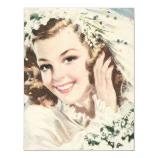 Ducha nupcial de los años 40 retros invitación 10,8 x 13,9 cm
