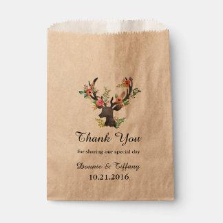 Ducha nupcial de los ciervos del boda del bolso bolsa de papel