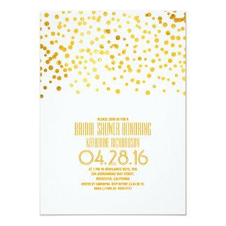 Ducha nupcial de oro del confeti moderno de la invitación 12,7 x 17,8 cm
