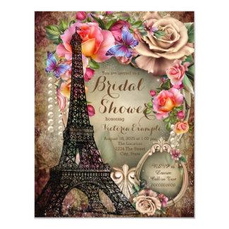 Ducha nupcial de París de la torre Eiffel del Invitación 10,8 X 13,9 Cm